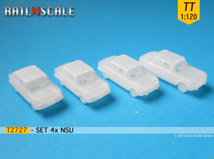 SET 4x NSU (TT 1:120) 3d printed