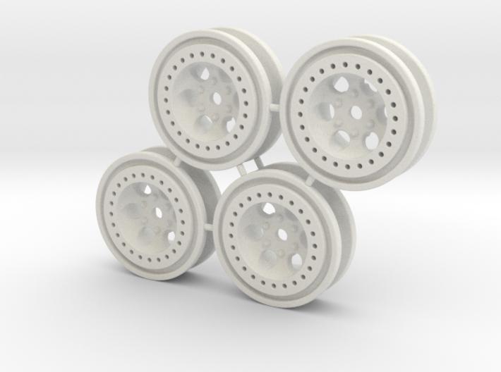 Bead-lock Stock offset 7mm hex - Losi McRC/Trekker 3d printed