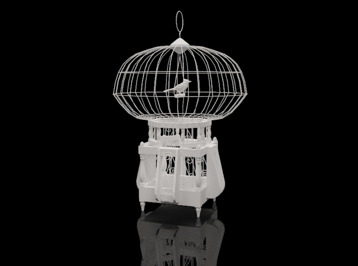 """Cage for birds from the """"COCOLA"""" for shapeways 3d printed"""