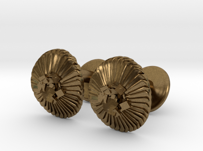 Coccolithus Cufflinks  3d printed