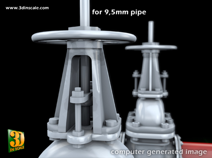 PIPELINE- valve No.2 & elbow (9,5mm) 3d printed Vale No.2 + Elbow - valve