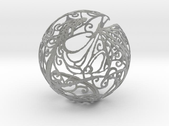 Dragon Sphere Ornament 3d printed