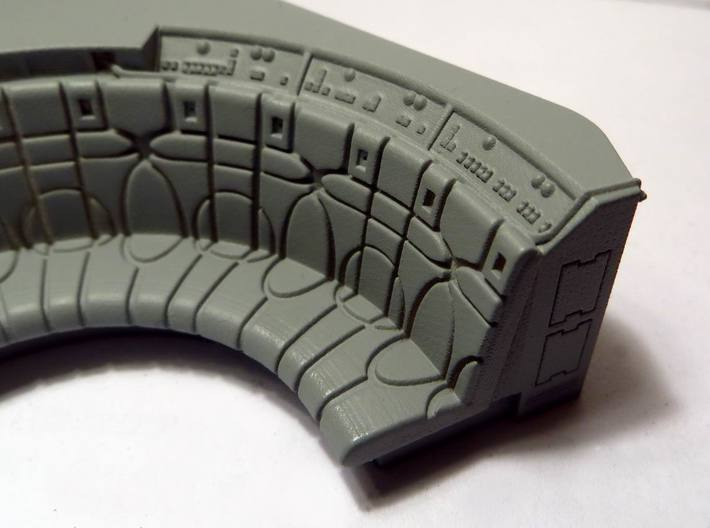 YT1300 DEAGO HALL COUCH COMPLETE 3d printed Falcon DeAgo hall couch with primer coat, detail.