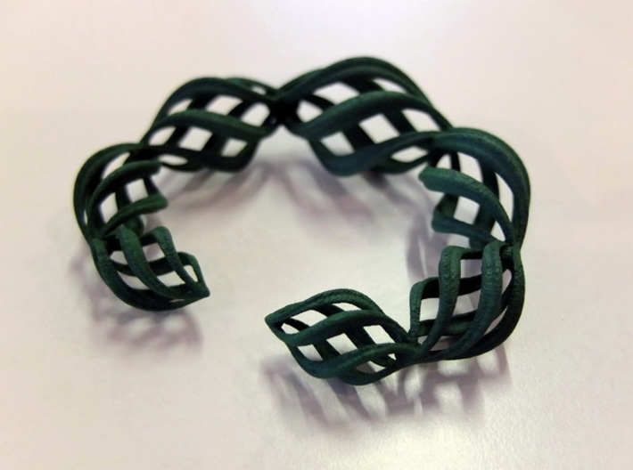 Thistle Bangle Open 3d printed