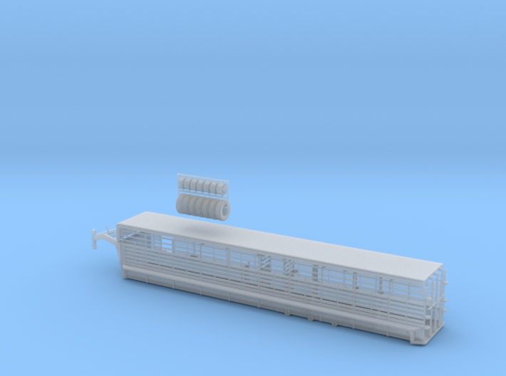 1/64 40' Cattle Trailer Bar Style 3d printed