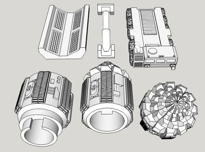 """6mm Space Dwarf """"Vole"""" Tunneling Assault Vehicle 3d printed"""