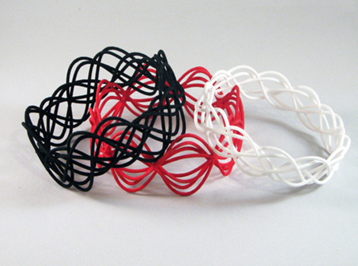 Wave Bangle B04L 3d printed
