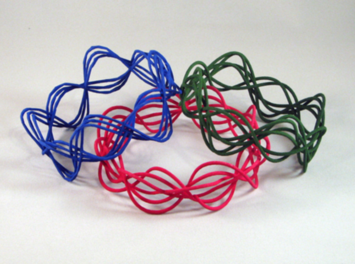 Wave Bangle B04M 3d printed