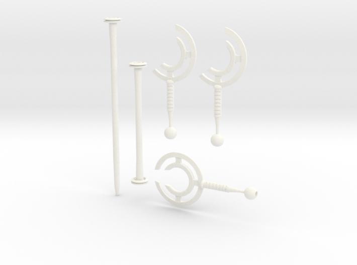 cyclone staff / blades bundle 3d printed