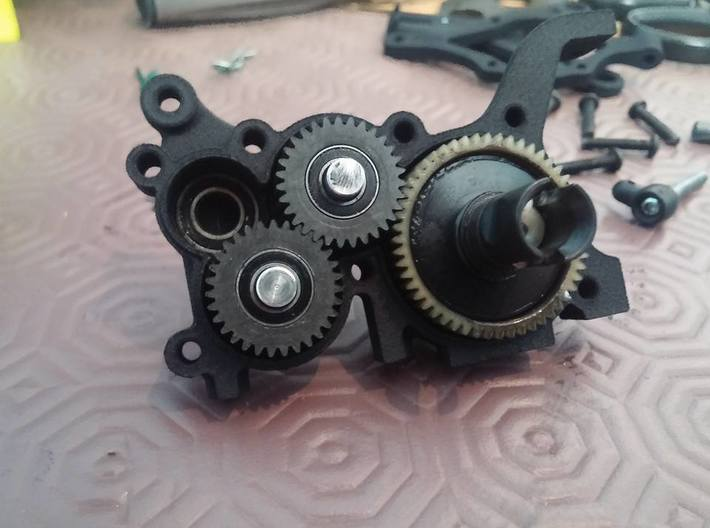 B5M LCG 4Gear Left Gearbox 3d printed