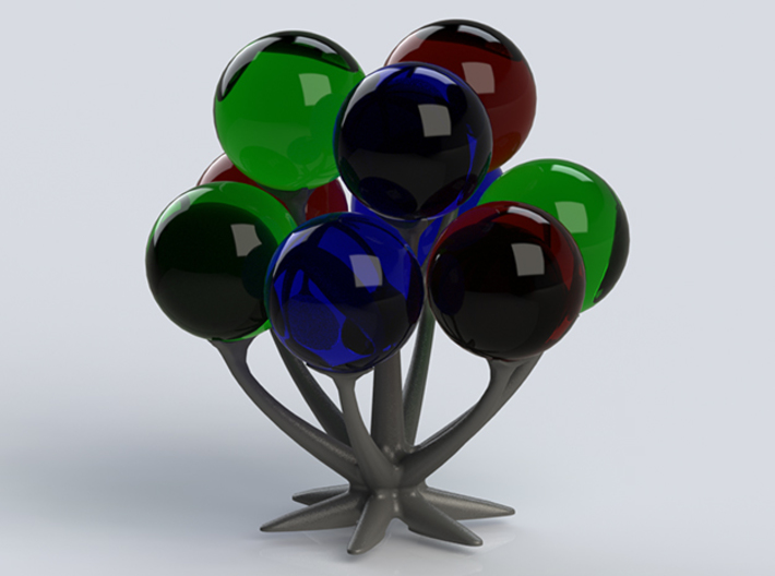 The spooky tree 3d printed Tree with glass balls