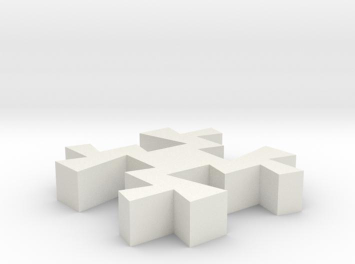 Taino Puzzle Piece 3d printed