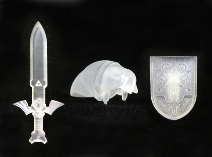 Toon Pack 3d printed Smooth Fine Detail Plastic