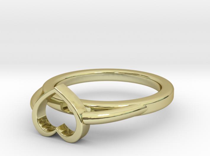 Ø15.40mm - Ø0.606inch Heart Ring A 3d printed