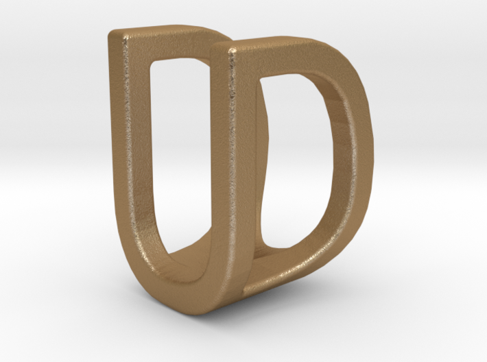Two way letter pendant - DU UD 3d printed