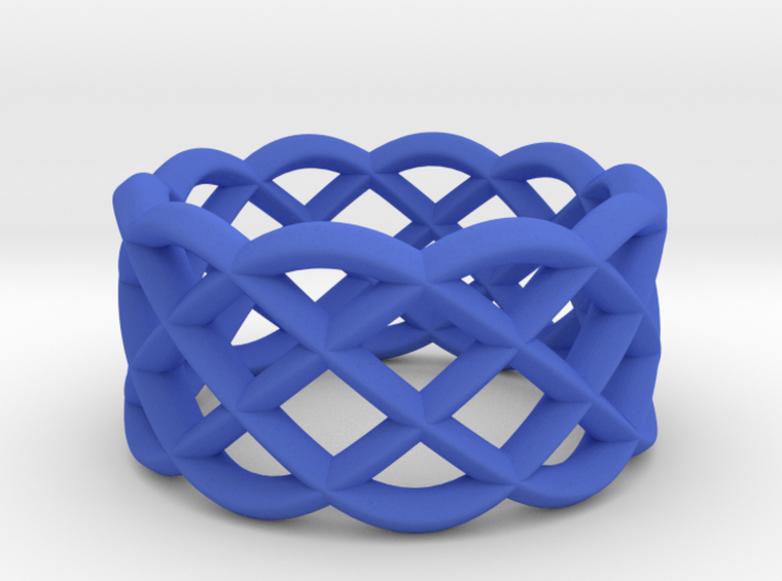 Five Curved Ring 3d printed