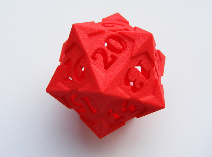 'Starry' D20 Spindown LARGE 3d printed
