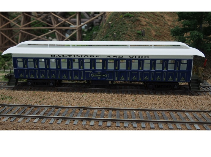 Roof for HO 1/87 MDC Roundhouse Overland pass car 3d printed