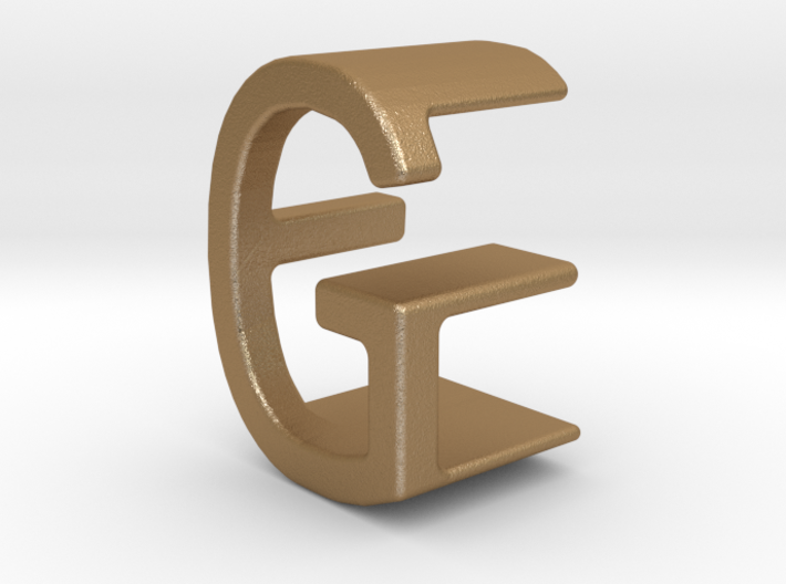 Two way letter pendant - EG GE 3d printed