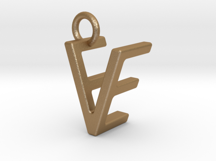 Two way letter pendant - EV VE 3d printed