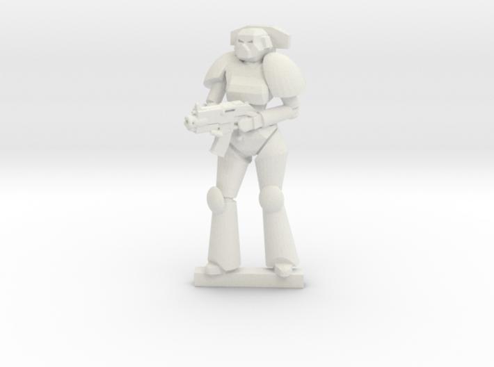 Female Space Trooper 3d printed