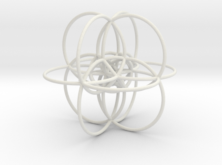 24-Cell Stereographic Projection 3d printed