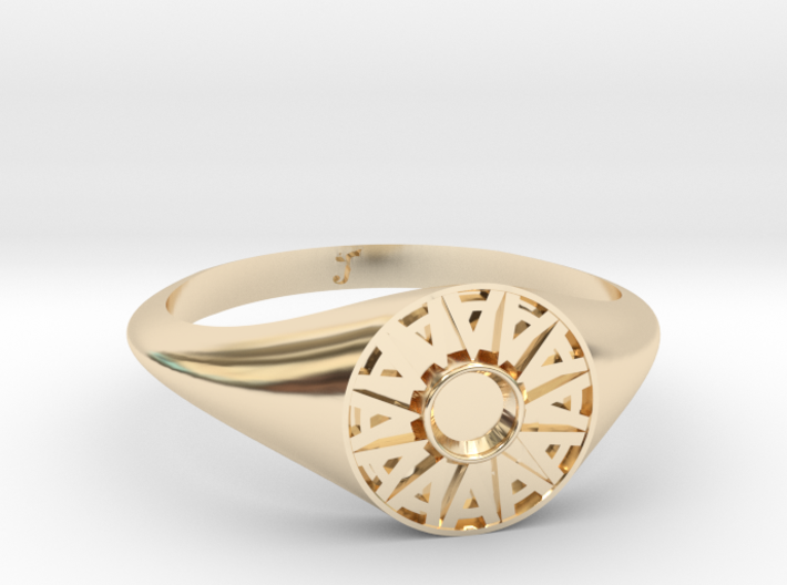Ambit Energy Womans ring w/ 3mm stone 3d printed