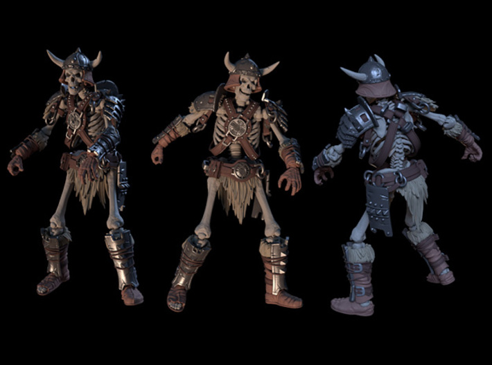 SL01-Torso-02  7inch 3d printed Complete Warrior set render, only chest is included