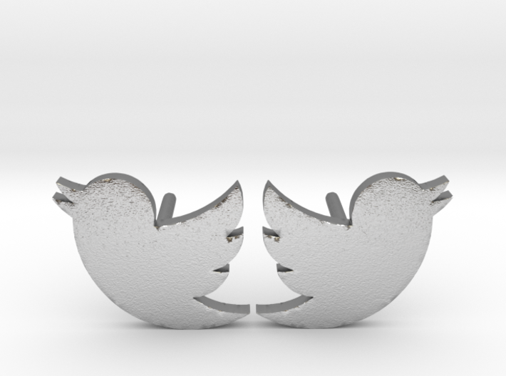 Twitter Studs 3d printed
