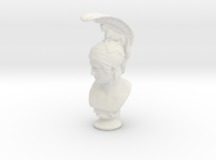 Bust of Ares, god of war 3d printed