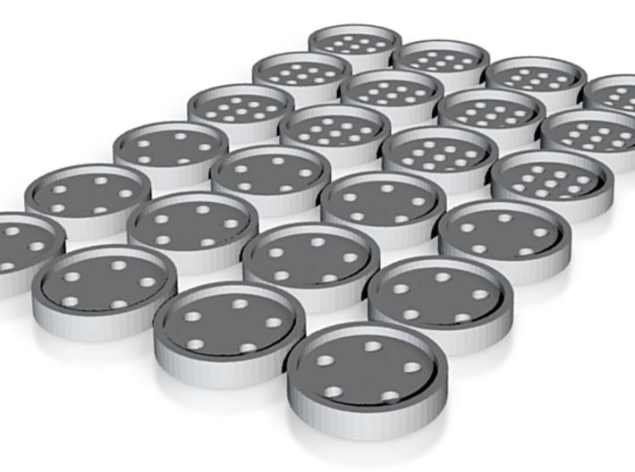 "tiny (5/16"") buttons (12 star, 12 alphabet) 3d printed"