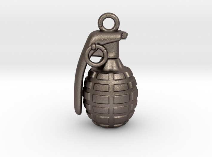 The Grenade Pendant 3d printed