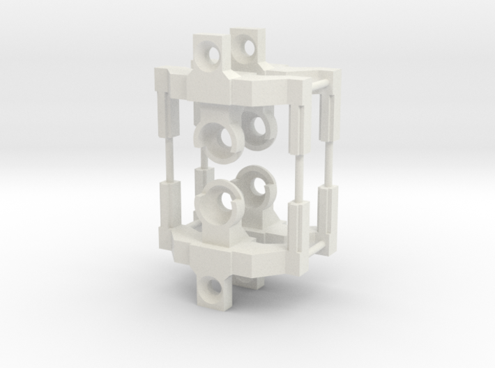 HO articulated joints for Walthers 48' spine car 3d printed