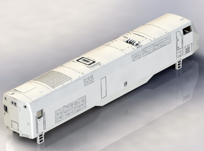 GE P32AC-DM N Scale Locomotive 3d printed