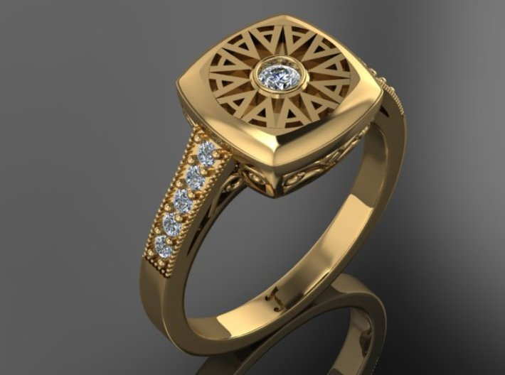 Ambit Energy Womans Ring With Stones 3d printed