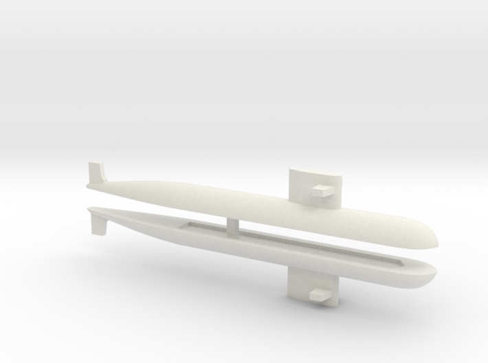 PLA[N] 093 Submarine x2, 1/2400 3d printed