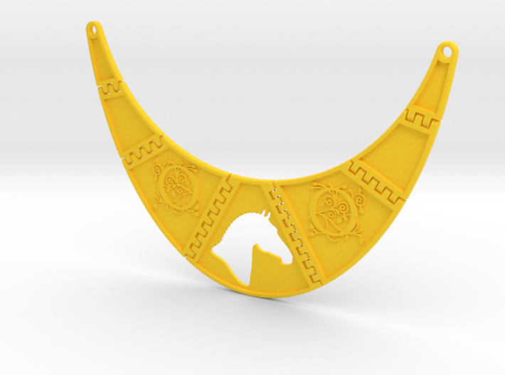 Branded Monogrammed Breastpiece Necklace 3d printed