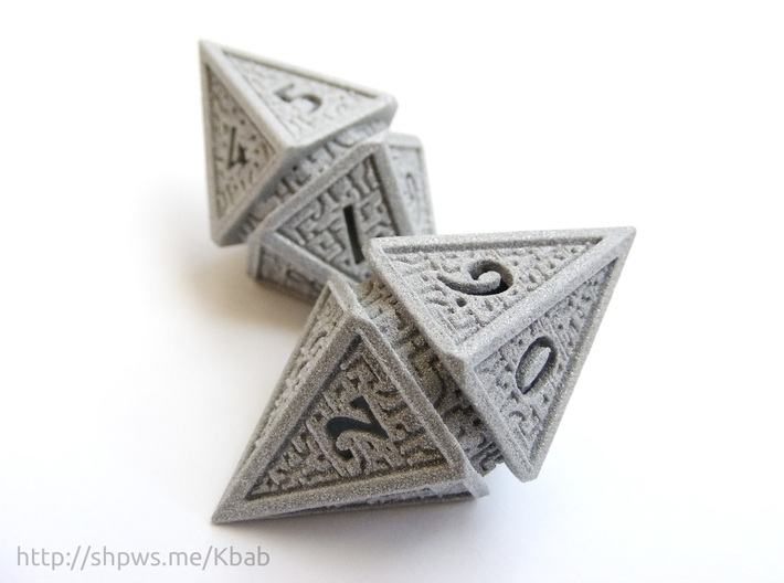 Hedron D10 Spindown Life Counter - HOLLOW DIE 3d printed Two D10 spindown dice together can be used to track life totals from 100 to 1
