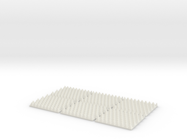 OO Gauge (1/76.2) Anti Trespass Mat Set of 6 3d printed