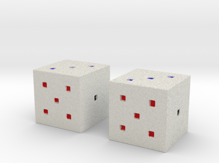 Minecraft Colored DIce 3d printed