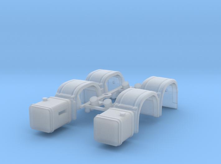 1/87 Kf/Bact/2ax/set 3d printed
