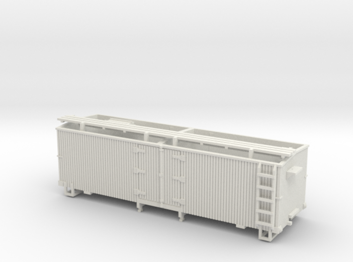 HOn3 25ft Reefer (without hatches) 3d printed