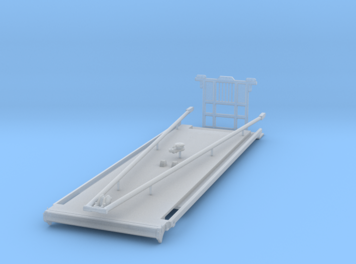 1/87th Heavy Oilfield Gin Pole Truck Bed 3d printed