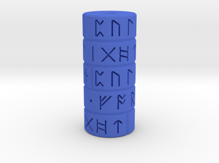 Runic Pull Cord Weight 3d printed