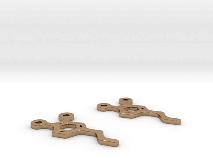 Dopamine Earrings 3d printed