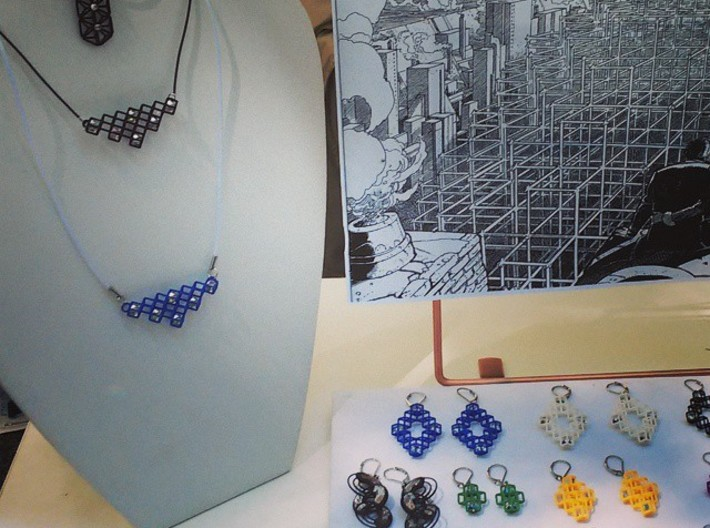 """Cube Earrings 3 """"Points of View"""" collection 3d printed"""