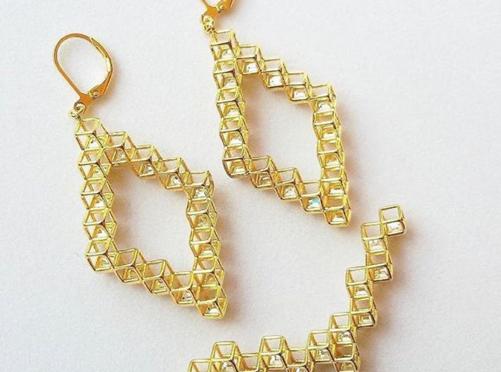 """Cube Necklace 1 """"Points of View"""" collection 3d printed"""