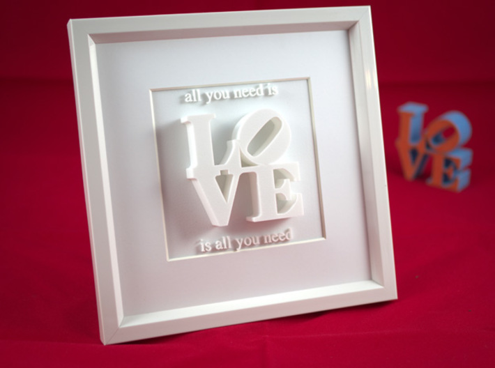 Love Is All You Need_II 3d printed
