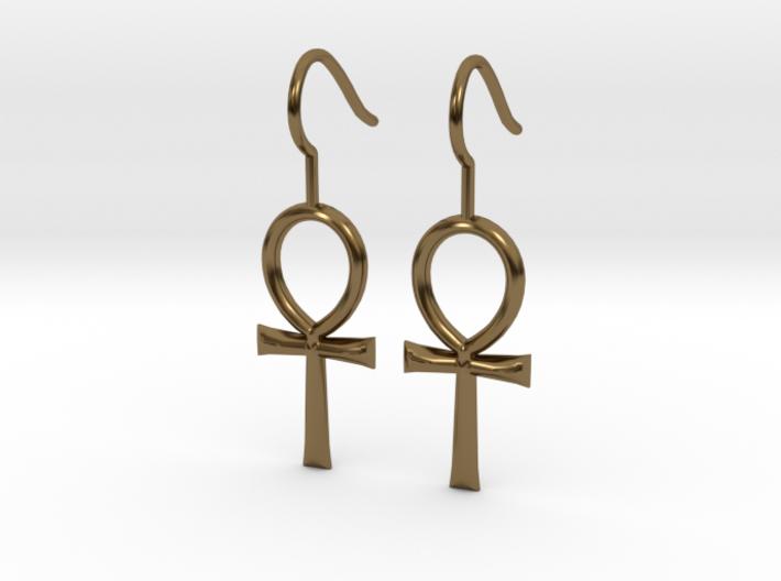 Ankh Earrings 3d printed