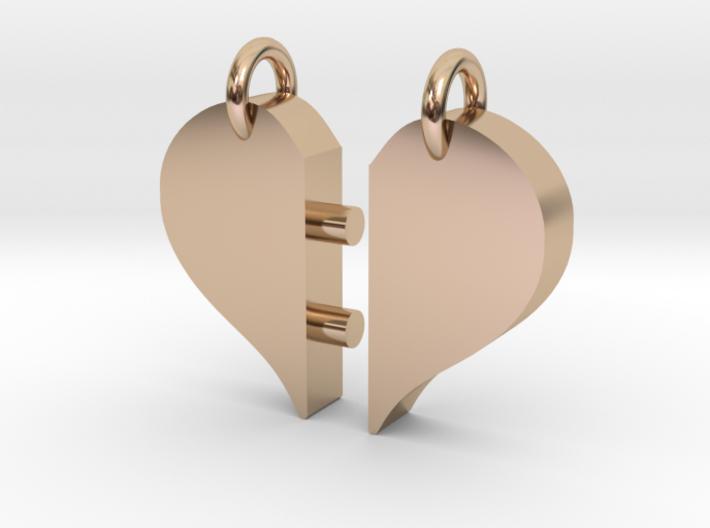 Heart Pendants-redesign 3d printed